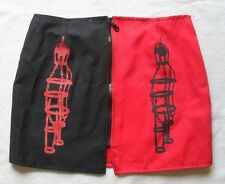BLACKBEARD PIRATE RED AND BLACK MINI 12 M SKIRT GIBBET MADE IN THE UK
