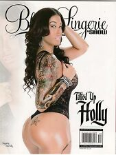 BLACK LINGERIE BY SHOW MAGAZINE MARCH APRIL 2014 TATTED UP HOLLY