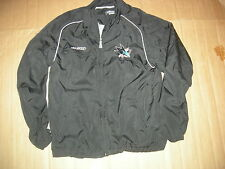 San Jose Sharks Black CCM Light  Jacket,GET FREE JERSEY,SUPERB QUALITY,GR8 GIFT