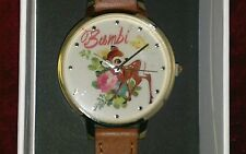 Primark Disney Bambi Womens Girls Genuine Leather Beautiful Watch