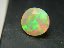 very rare faceted GEM Precious Welo Opal Ethiopia Green Red Orange Fire 1.32ct