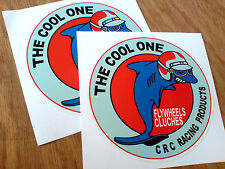 CRC RACING PRODUCTS Vintage Classic Retro Stickers Decals 2 off 80mm