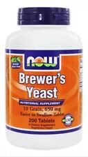 NOW Foods - Brewer's Yeast 650 mg. - 200 Veg Tabs Fast Shipping