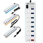 7 Port Hub High Speed USB 3.0 HUB + 1 Smart Power Charging Port For PC Laptop