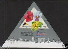 MALAYSIA 2013 Tri-Nation 3rd Stamp Exhibition MS Mint MNH