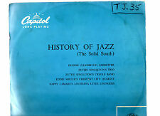 """JAZZ/BLUES.HISTORY OF JAZZ (THE SOLID SOUTH).V/A.RARE UK ORIG 10"""" LP."""
