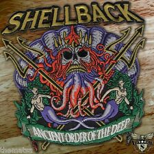 "NAVY SHELLBACK ANCIENT ORDER OF THE DEEP MILITARY 5"" EMBROIDERED PATCH"