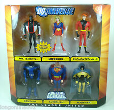 DC Universe Justice League JLU  6 pack Superman Mr Terrific Supergirl Hourman