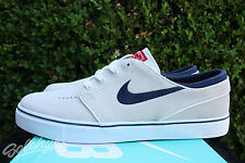 NIKE SB ZOOM STEFAN JANOSKI SZ 8 SUMMIT WHITE RED WHITE BLUE 333824 106