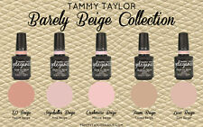 "BRAND NEW!! ""BARELY BEIGE"" COLLECTION 5 BEAUTIFUL GELEGANCE GEL POLISH COLORS"
