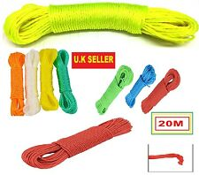STRONG TOUGH LONG LIFE PVC 20M OUTDOOR GARDEN CLOTHES WASHING LINE 'Rpe