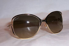 NEW GUCCI SUNGLASSES GG 4250/N/S J5G-ED GOLD/BROWN AUTHENTIC