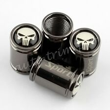 Car Parts Titanium Style Wheel Tyre Valve Dust Caps Covers Skull Head Punisher