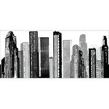 CITYSCAPE Giant wall Stickers MURAL Room Decor Buildings City SkyScraper