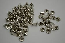 100pcs 8*8mm Double Cap Rivets rivets silver