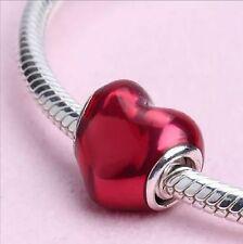 """ORIGINALE Pandora Argento-elemento Charm Cuore """"Felice innamorato"""" 791814en62 NUOVO"""