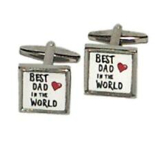 Best Dad in the World Framed CUFFLINKS Fathers Day Christmas Present GIFT Box