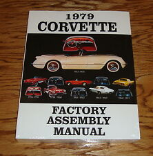 1979 Chevrolet Corvette Factory Assembly Manual 79 Chevy