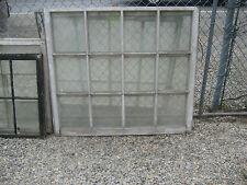 "c1900 LARGE 12 pane SCHOOL HOUSE window sash ~ 45 1/8"" x 40.75"" ~ 10"" x 12"" pane"