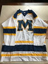 RARE Vintage Aaron Sportswear Michigan Wolverines Hockey Jersey Mens Medium
