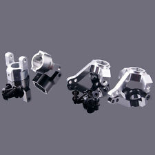 RC AXIAL SCX10-01+SCX10-02 Front Knuckle Arm+C Hub Carrier Silver For 1:10 SCX10
