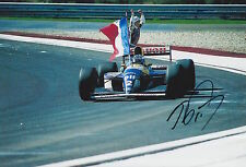 Alain Prost Hand Signed 12x8 Photo Canon Williams Renault F1 3.