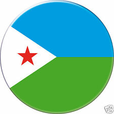 5 x sticker 5cm auto moto velo valise pc portable drapeau Rond Djibouti
