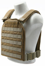 Spartan Armor Systems AR500 Shooter Plate Carrier Molle Coyote