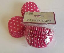 Job Lot Pink Spot Cup cake Muffin Baking Cases 6 Packs of 100