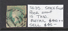Victoria 2/ Green Woodblock Qv Used With Issues