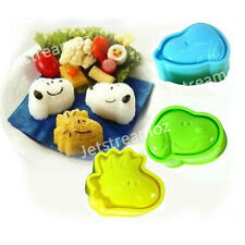 Snoopy Mould Cutter Set Shaper Sushi Rice Roll cookie Cake Mold