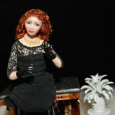 miniature porcelain doll 1:12 lady artist Stacy Hofman