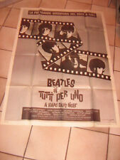 BEATLES,TUTTI PER UNO,A HARD DAY'S NIGHT,LENNON,MANIFESTO 100X140 CM