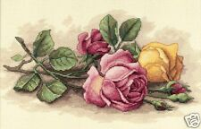 "Dimensions ROSE CUTTINGS COUNTED CROSS STITCH KIT 14"" X 9"""