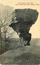 Printed Postcard posted 1914 Devil's Tea Table near McConnelsville, Malta OH