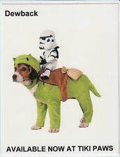 2015 SDCC TIKI PAWS PET CLOTHING PROMO CARD STAR WARS DEWBACK DOG NOT A COSTUME