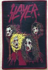 Slayer death skin mask woven patch / aufnäher with RED rim!Thrash Metal Rare!