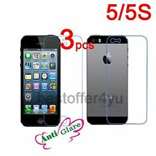 6=3 Front + 3 Back Matte Anti-Glare Screen Protector Film for Apple iPhone 5 5S