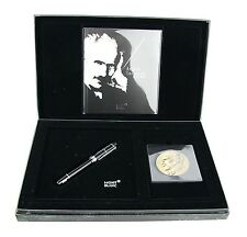 MONTBLANC ARTURO TOSCANINI 101171 18K GOLD NIB EF FOUNTAIN PEN & COIN NEW BOX