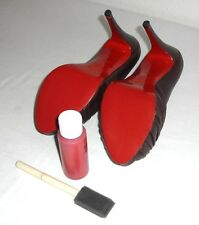 Custom Red Touch Up Scuff Cover Paint KIT For Christian Louboutin Heels PRE 2006