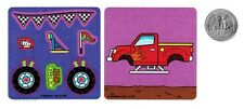 6 Make A Monster Truck Stickers Kid Boy Party Goody Loot Bag Filler Favor Supply