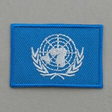 United Nations Flag Small Iron On/ Sew On Cloth Patch Badge Appliqué Hot Fix UN