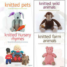 Sarah Keen Collection 4 Books Set (Knitted Wild Animals,Knitted Farm Animals)