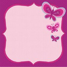 Scrapbook Paper 3D 12 x 12 inches BUTTERFLIES 2 Sheets   BBE