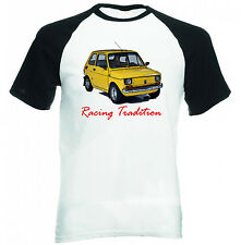 MALUCH POLISH FIAT 126 P RACING TRADITION - COTTON TSHIRT - ALL SIZES IN STOCK
