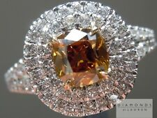 .76ct Natural Brown DBL Branded Old Mine Brilliant Ring R5173 Diamonds by Lauren