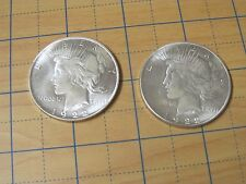 LOT 2 * 1922 PLATED-SLIVER   ~ 2 Two Headed COIN ~ Win Every Flip! Novelty Item!
