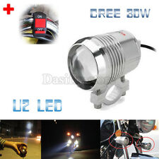 30W Motorcycle CREE U2 LED Driving Headlight Fog Lamp Spot Light For BMW +Switch