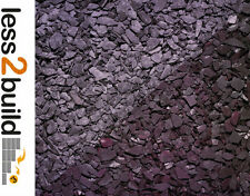 DECORATIVE AGGREGATES PLUM SLATE CHIPPINGS 25KG BAG