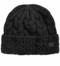 Sean John Men's Cuffed Cable-Knit Beanie/ hat One size BLACK NWT
